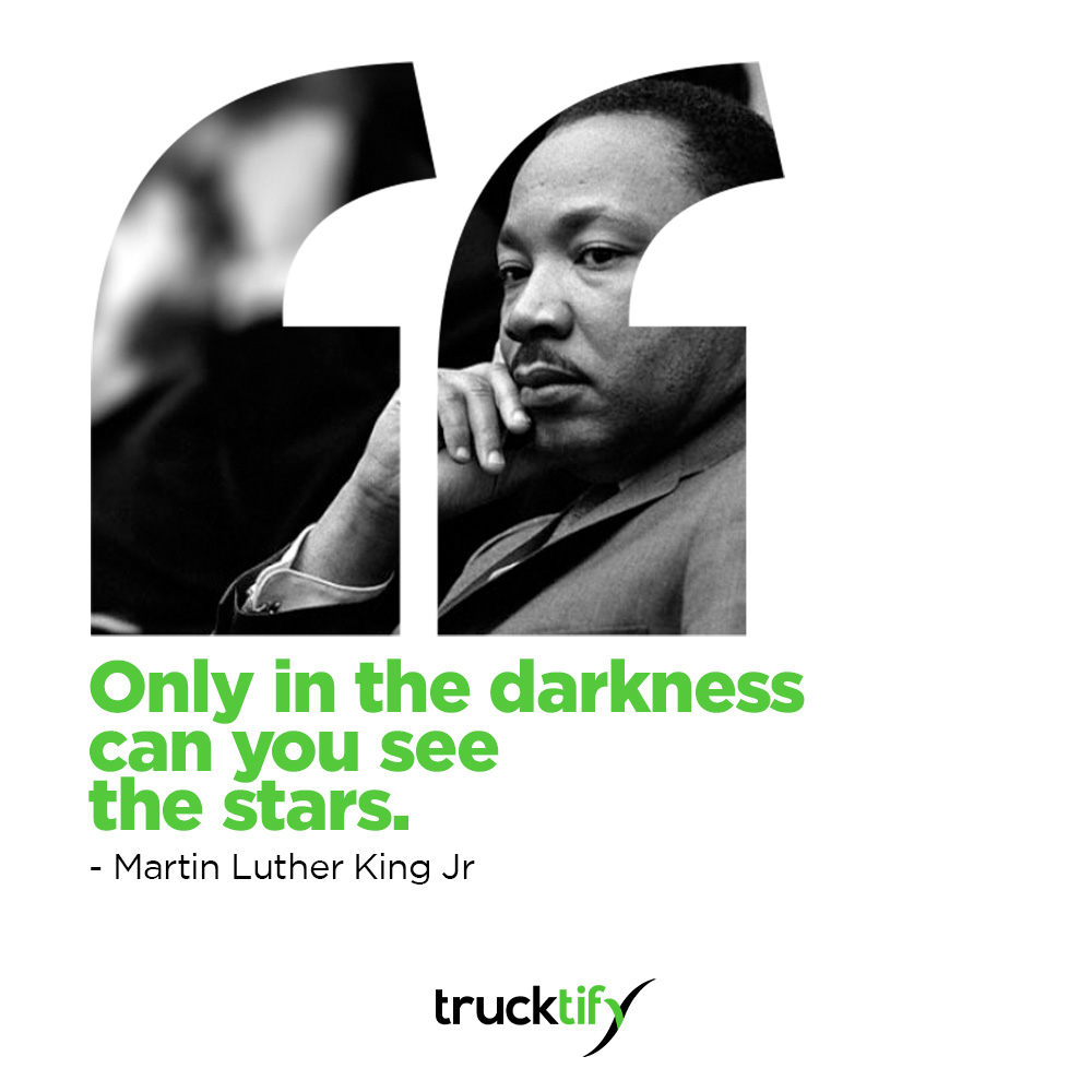 5:31 PM Today, Trucktify honoring and remembering Martin Luther King Jr. who would have been 92 years old today.  #mlkday #martinlutherkingjr #ihaveadream #trucktify