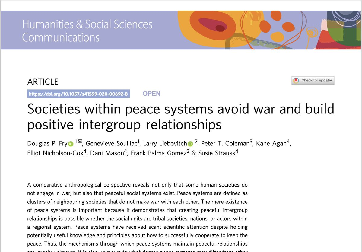 On this MLK day, a leader who envisioned systems of peace, read our latest #research on #sustainingpeace, published with @SpringerNature in HSSC.