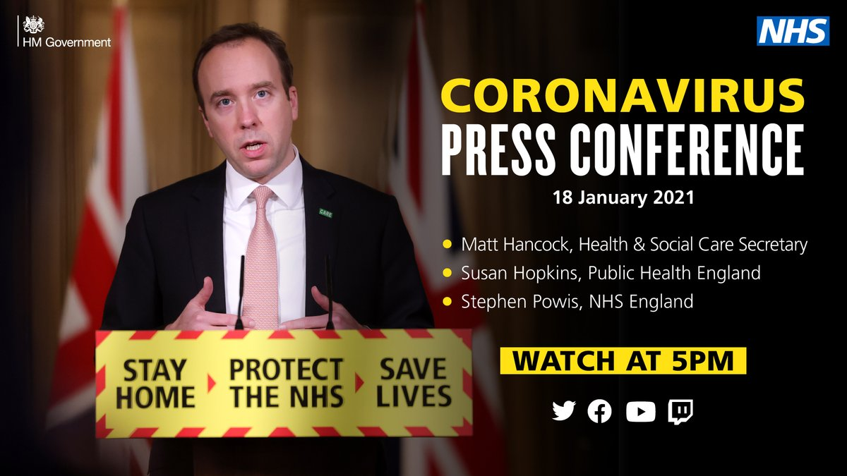 Watch today's coronavirus press conference on our feed at 5pm.