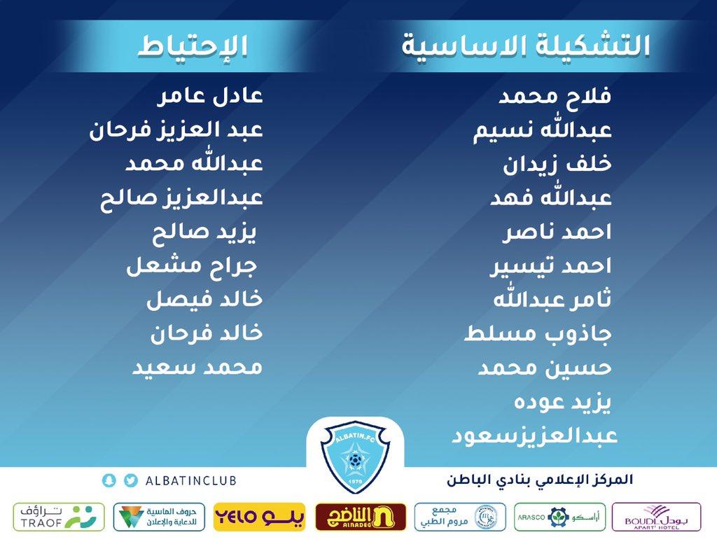 الدوري  الممتاز  للبراعم  تحت (15 عاماً )   #الباطن   الأهلي   التشكيلة