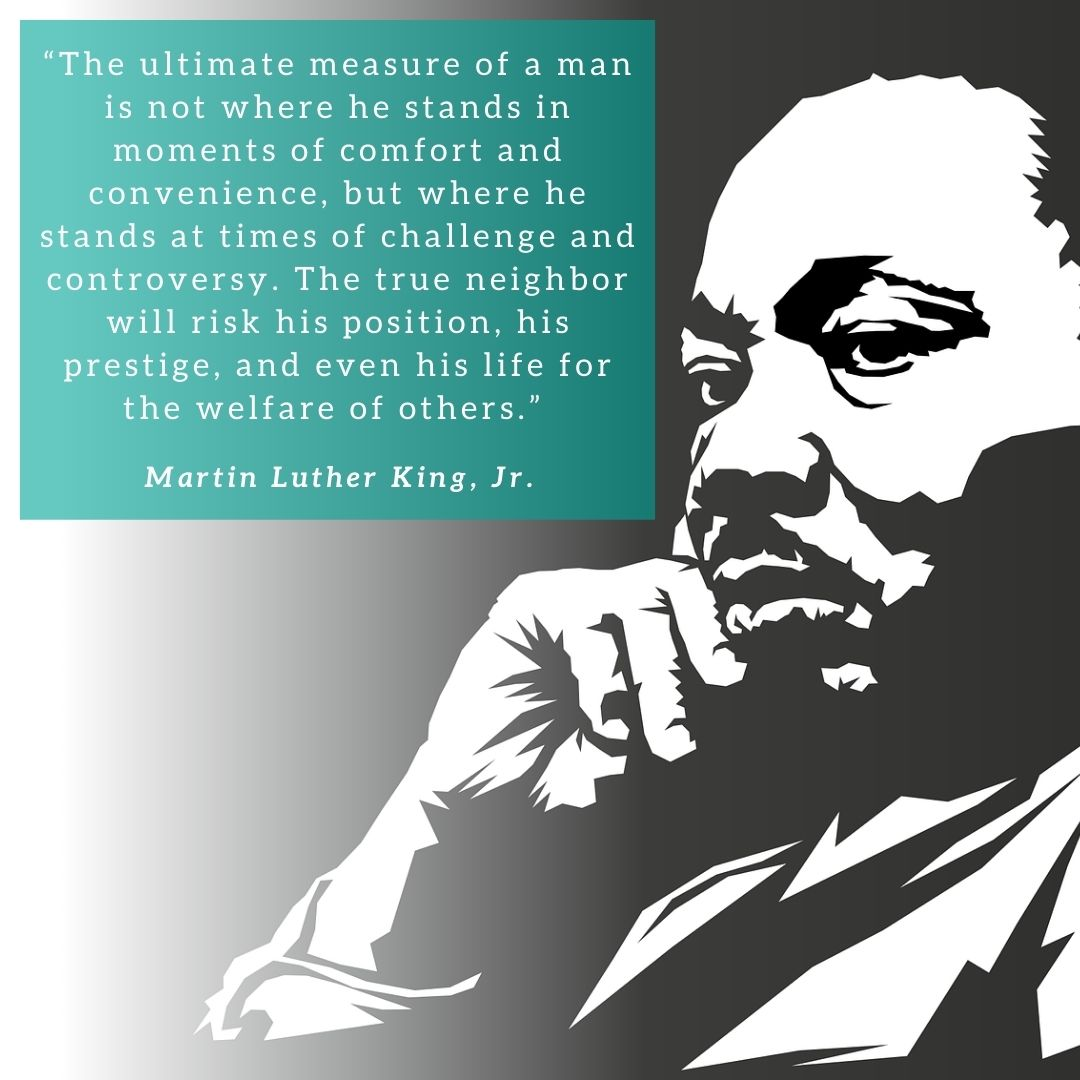 """Happy Martin Luther King Jr. Day  Did you know that #MLKDay is considered """"a day on, not a day off""""? It is the only federal holiday designated as a national day of service to encourage all Americans to volunteer to improve their communities."""