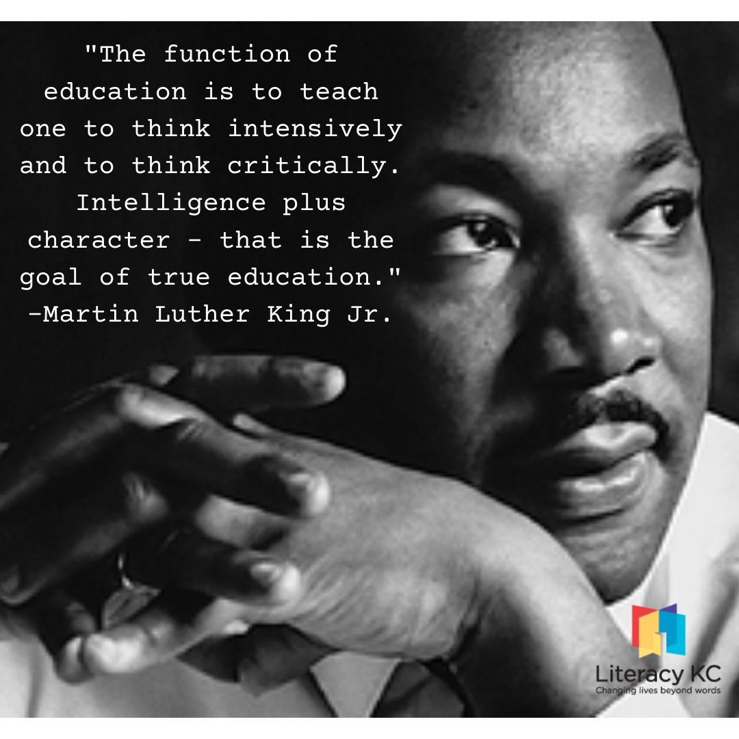 Literacy KC is closed in observance of Martin Luther King Jr. Day. We will reopen on Tuesday at 8:30 am.  #literacykc #literacyforall #martinlutherkingjr #mlkday  📷 : American University