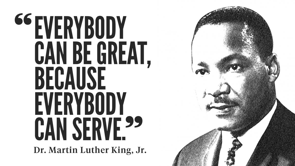 The UConn community is invited to participate in today's #MLKDay of Service, hosted by @UConnOutreach, to celebrate the life and legacy of Dr. Martin Luther King, Jr.   📅 January 18 ⏰ 10 a.m. - 3 p.m. 💻 Virtual 🔗