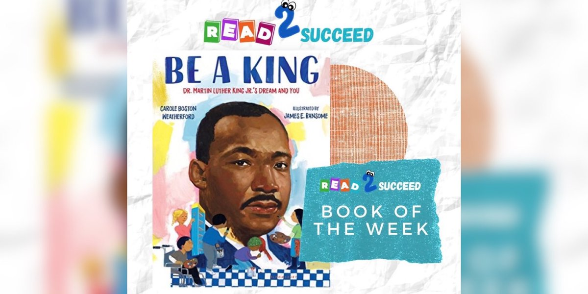 Happy Monday! Our #bookoftheweek is dedicated to #MartinLutherKingJr and is written by @poetweatherford  Be a King: Dr. Martin Luther King Jr.'s Dream and You, encourages children to carry out the principles he championed.  #MLKDay #mondaymotivation #readtosucceed