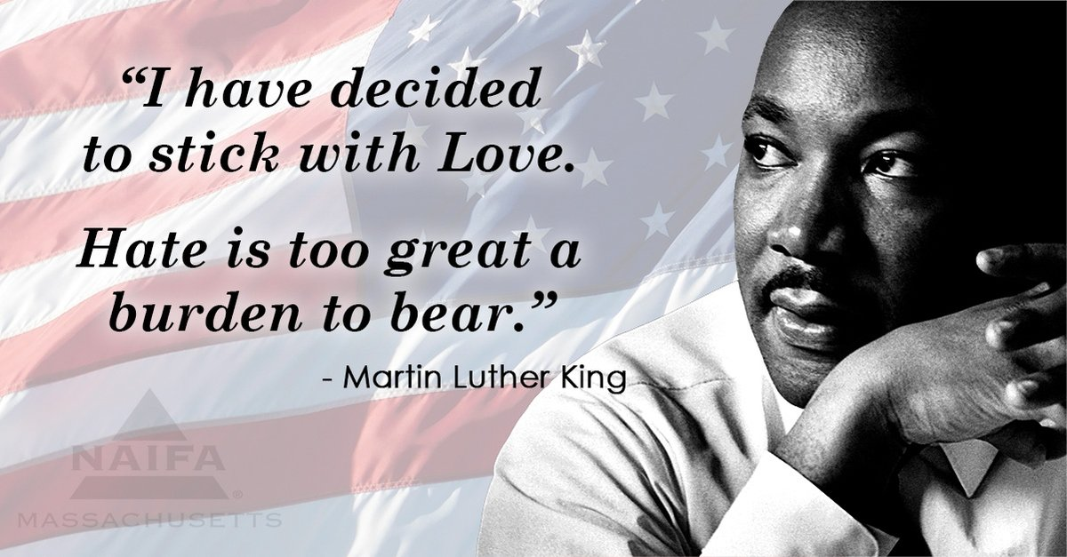 Remember the courage, inspiration and legacy of Martin Luther King, Jr. #NAIFAMA #NAIFAproud #MLK2021