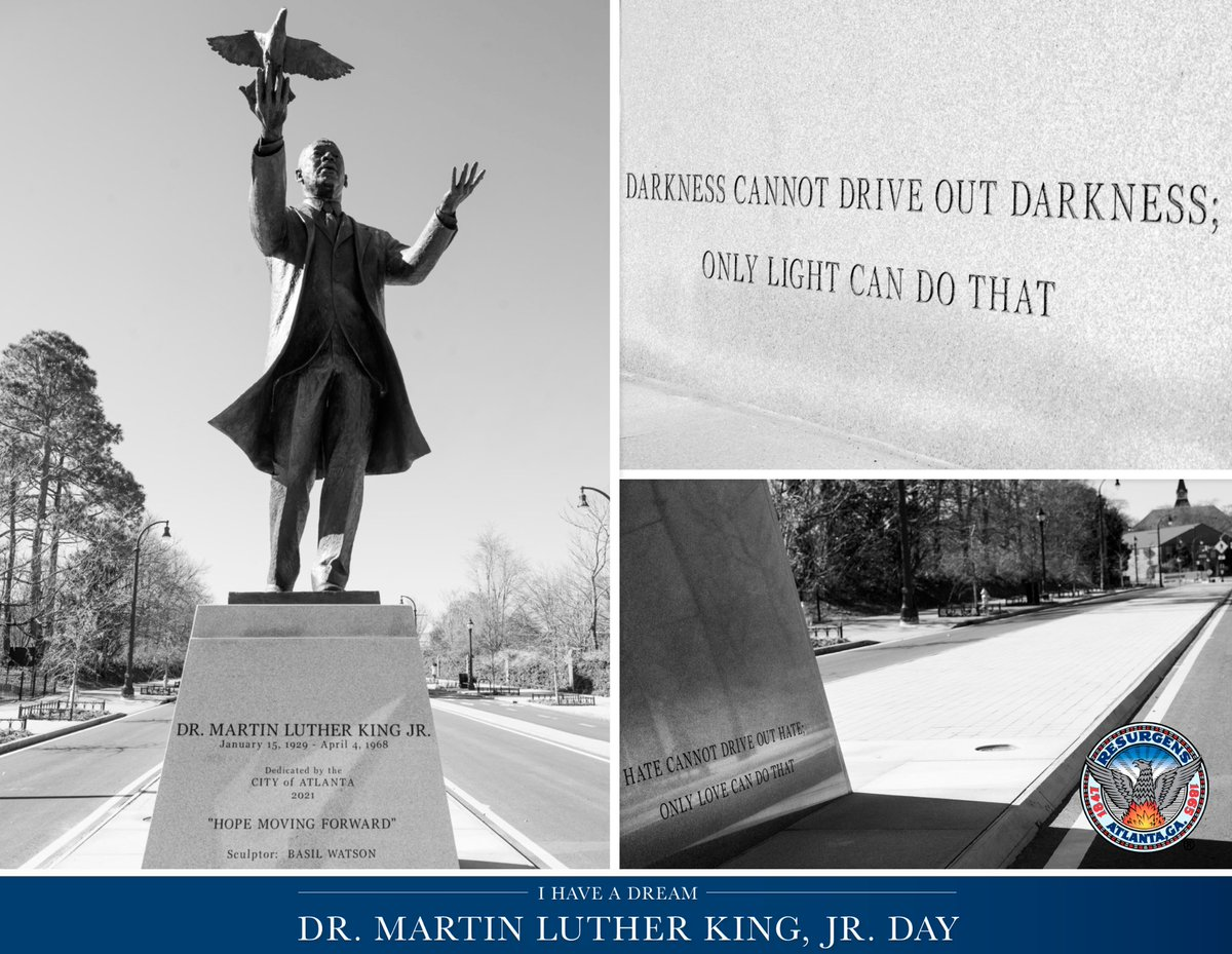 """""""Darkness cannot drive out darkness; only light can do that. Hate cannot drive out hate; only love can do that."""" Today and every day, we celebrate and honor the legacy of Dr. Martin Luther King, Jr. #MLKDay #OneAtlanta"""