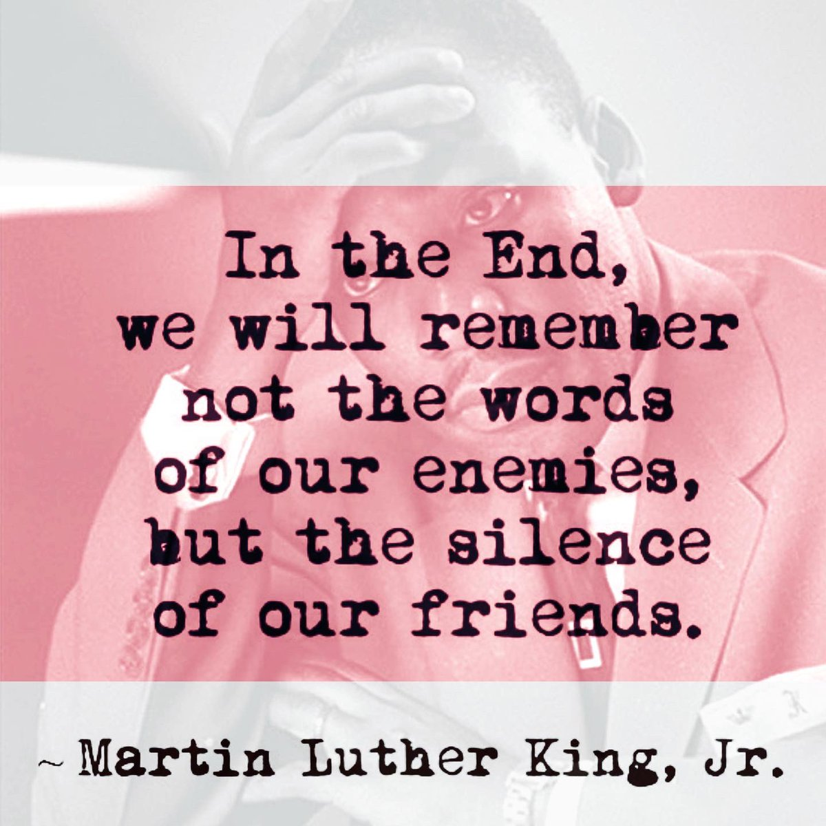 I thought his expression matched his words so well... 2021 is not the year to remain silent, we have had too much silence.  1st pic mixed repost of image from @GabrielleDennis with type from @sophieandlili 2nd pic repost from @TheKingCenter with added quote. #MLK #MLKday