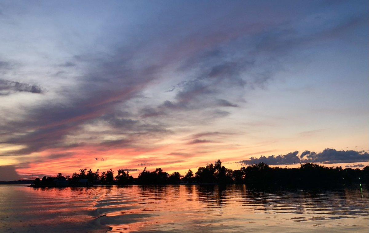 #coastline #shore #sunset #wake #backdrop #summer #nature #ny #mikephillipspic