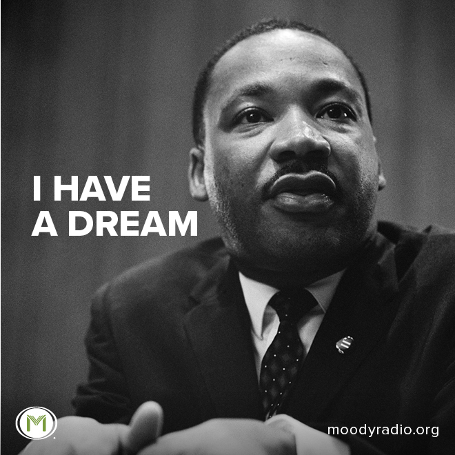 Today is Martin Luther King Jr Day. As we reflect with gratitude on the work of Dr. King, let's ponder how we can seek to bring unity to our own communities. #martinlutherking #mlk #martinlutherkingjr #ihaveadream #martinlutherkingday #moodyradio #moodybible