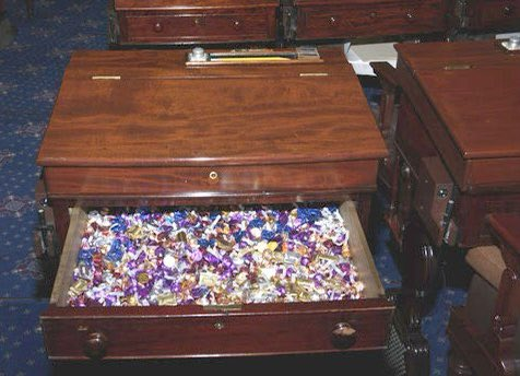"""#waytooearly to wonder why """"patriots"""" were rummaging through @SenTedCruz's desk instead of going for the honey pot.  Those in the know are aware that @SenToomey has control of the candy desk.  If you're gonna do hard time at least score some candy."""