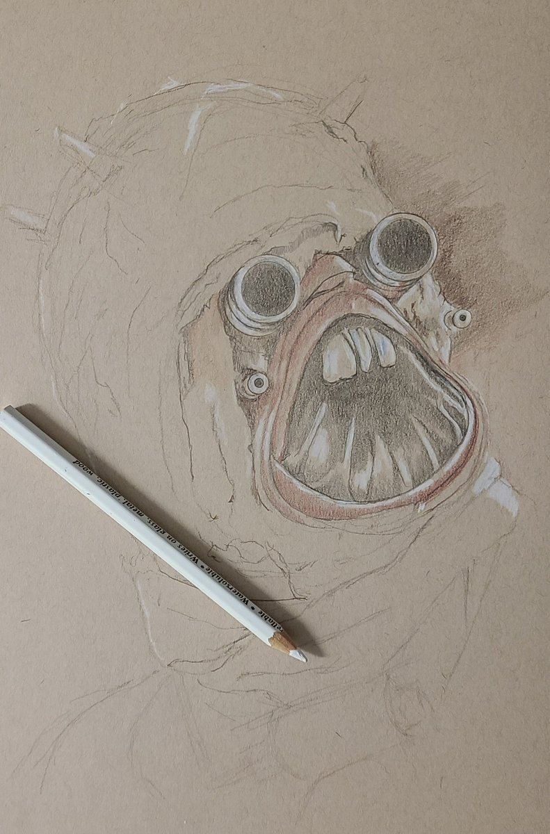 Tusken Raider drawing in progress. #starwars #TheMandalorian #starwarsfanart