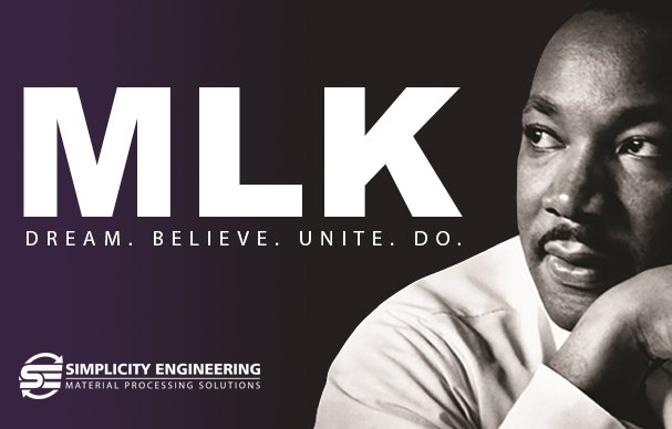 Today we honor all of those, regardless of gender, color, or ethnicity, who commit to their ideas to help make things better. #KomptechAmericas #unite #Ihaveadream #standtogether #mlk