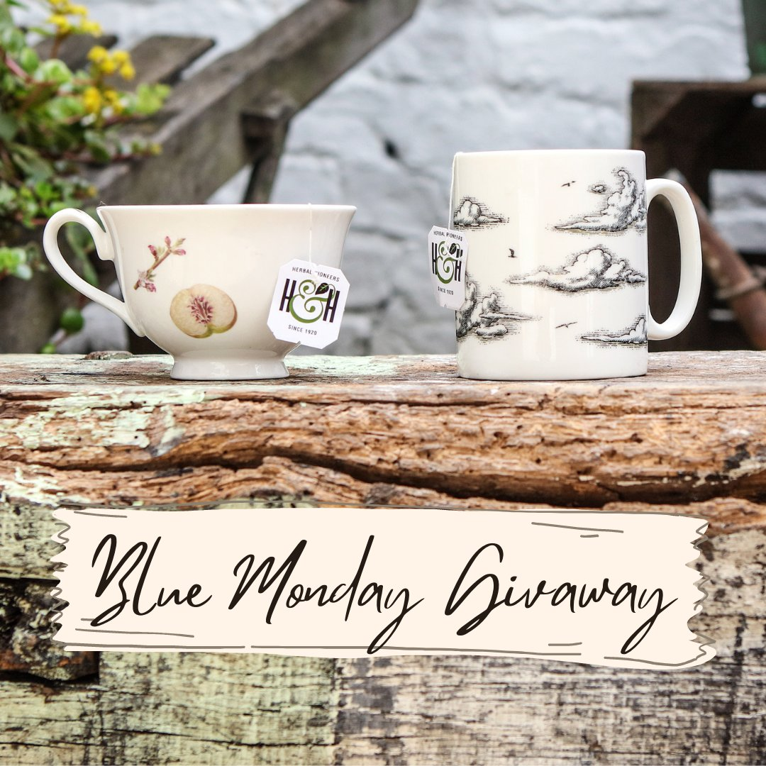 💙Blue Monday Giveaway💙 We'd like to brighten your blue Monday by giving you the chance to win a selection of our tea! To enter: Like and Retweet this post, tagging another H&H lover! Competition closes 21/01/21, with our winner announced 22/01/21.  Good luck!✨