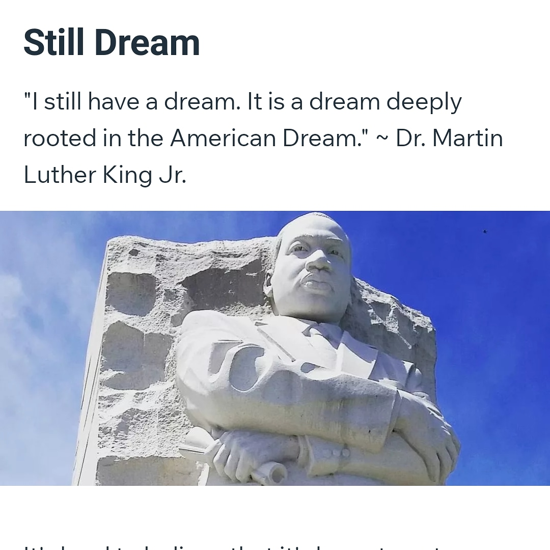 Happy MLK Day ❤.  New Blog post honoring Dr. King's impact on my life. (Link in my bio) #MLKDay2021 #IHaveADream #stilldream  #LatchkhiQueen