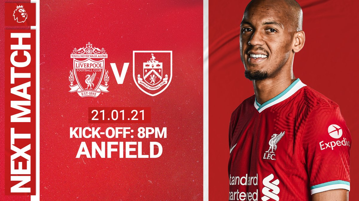 Next up, we're back at Anfield against @BurnleyOfficial 👊🔴 #LIVBUR