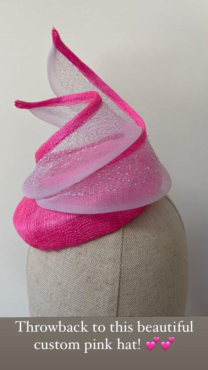 Pink to make the boys wink! Bespoke order. #weddings #races #motherofthebride #weddinghat #hat #pink #dublinmilliner