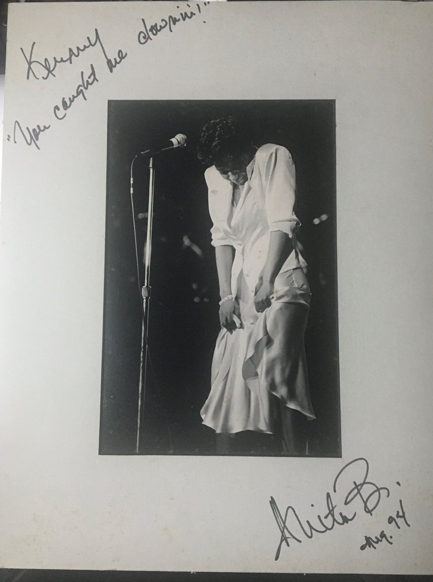 1994 @IAMANITABAKER photographed by @KDinDC2019 in Washington, DC #CaughtUpInTheRapture  #LiveInConcert #blackandwhite #blackandwhitephoto #Photographer Kenneth Dickerson #fan #musician @AbcsFan #WCW #TBT #FBF #memories #autograph by #AnitaBaker #classic