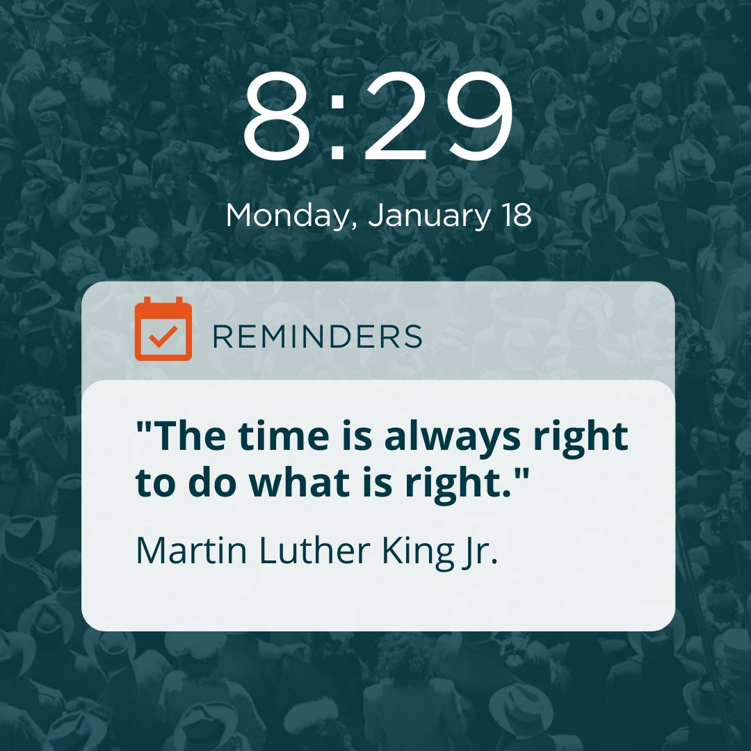 """Let us be reminded today and every day, that """"the time is always right to do what is right"""" - Martin Luther King Jr.   #MLKday #action #change #ethics #workplace"""