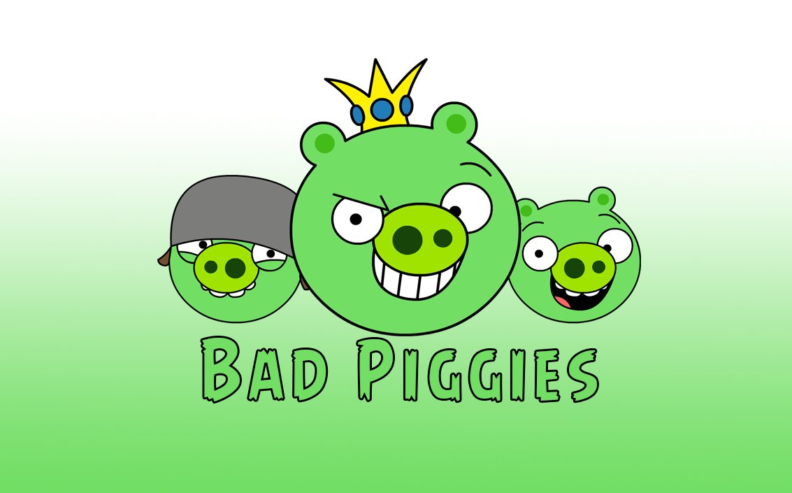 A drawing of the pigs from #AngryBirds