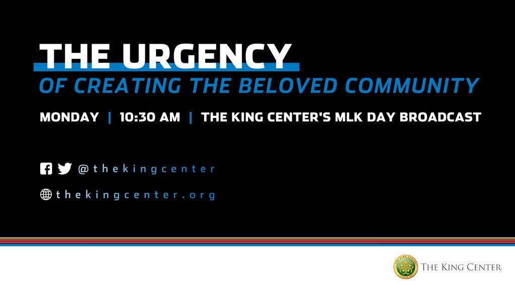 In honor of #MLKDay, we're proud to be a corporate sponsor of @TheKingCenter's The Urgency of Creating the Beloved Community event.   For more information and to view the virtual 2021 MLK Holiday Observance, visit . #BelovedCommunity