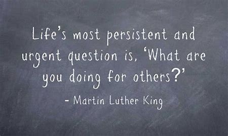 A question we should ask ourselves everyday... #MakeaDifferenceMonday #MLK2021