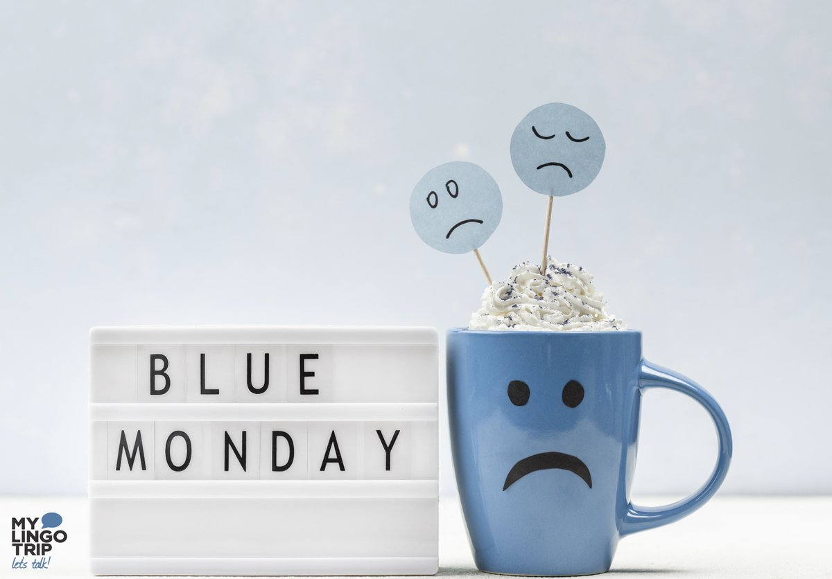 """Feeling blue? 😔 Today is """"Blue Monday"""", the most depressing day of the year.  ⛈  But don't let that affect you! Take a walk outside, listen to your favorite song, play your favorite game, anything to beat those Monday blues! 🎧🎮🏃♂️  #bluemonday #mondaymood #mondayblues"""