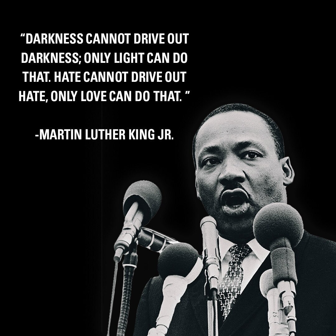 Choose light and love always. 💗 #MLKDAY