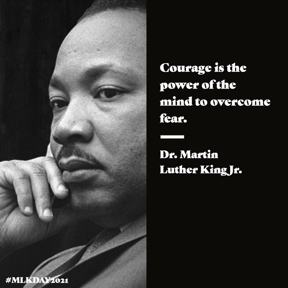 Dr. Kings words are more urgent than ever. This is a difficult moment, but if we face the deep divisions in our country with courage and hope, I know we can build the more just, equitable future Dr. King dreamed for our nation.
