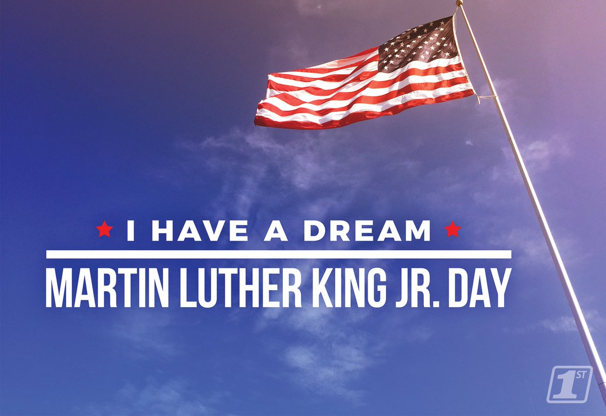 Today, First National Bank remembers the life and achievements of Martin Luther King, Jr.  Our bank will be closed today in observance of the federal holiday. We will reopen for regular business hours Tuesday, January 19. #IHaveADream