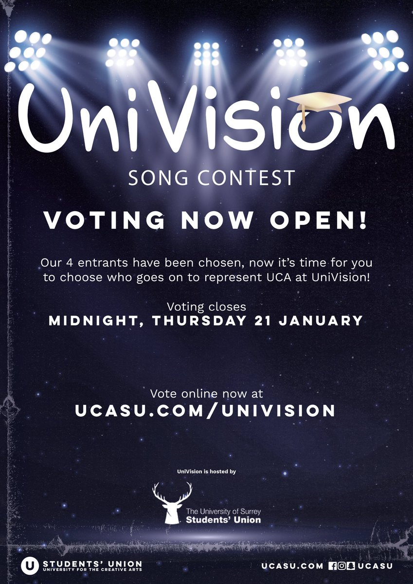 test Twitter Media - It's time to vote for the act you want to see represent UCA at the Univision Song Contest! Voting is open until midnight Thursday 21st January 🎶 Watch and vote online at https://t.co/5ucvmgd7AX https://t.co/mX7FwJ6Ram