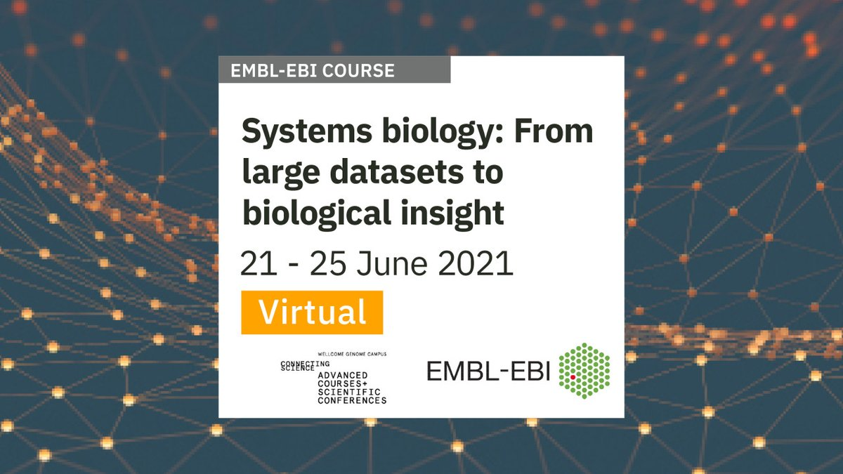 Are you working with large #omics datasets? Do you need new strategies to extract relevant information from large-scale #BiologicalData? Then this course is for you! 👇🏿
