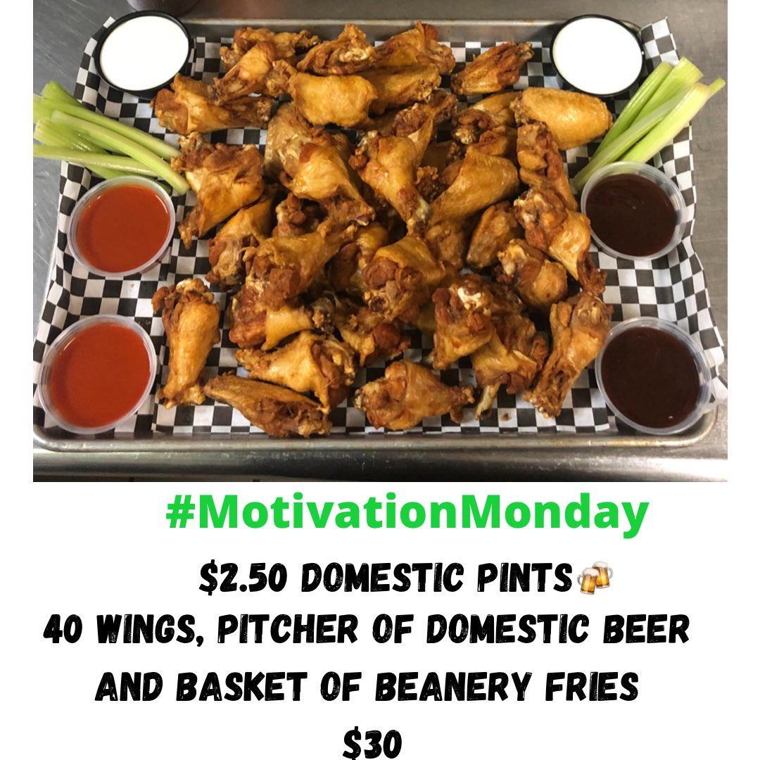.....Monday Blues??? Wings, Beer, & Fries....oh My! Dine-in•Take-out•GrubHub            (304)599-1870 #supportlocal #motivationmonday #almostheaven #montaineercountry