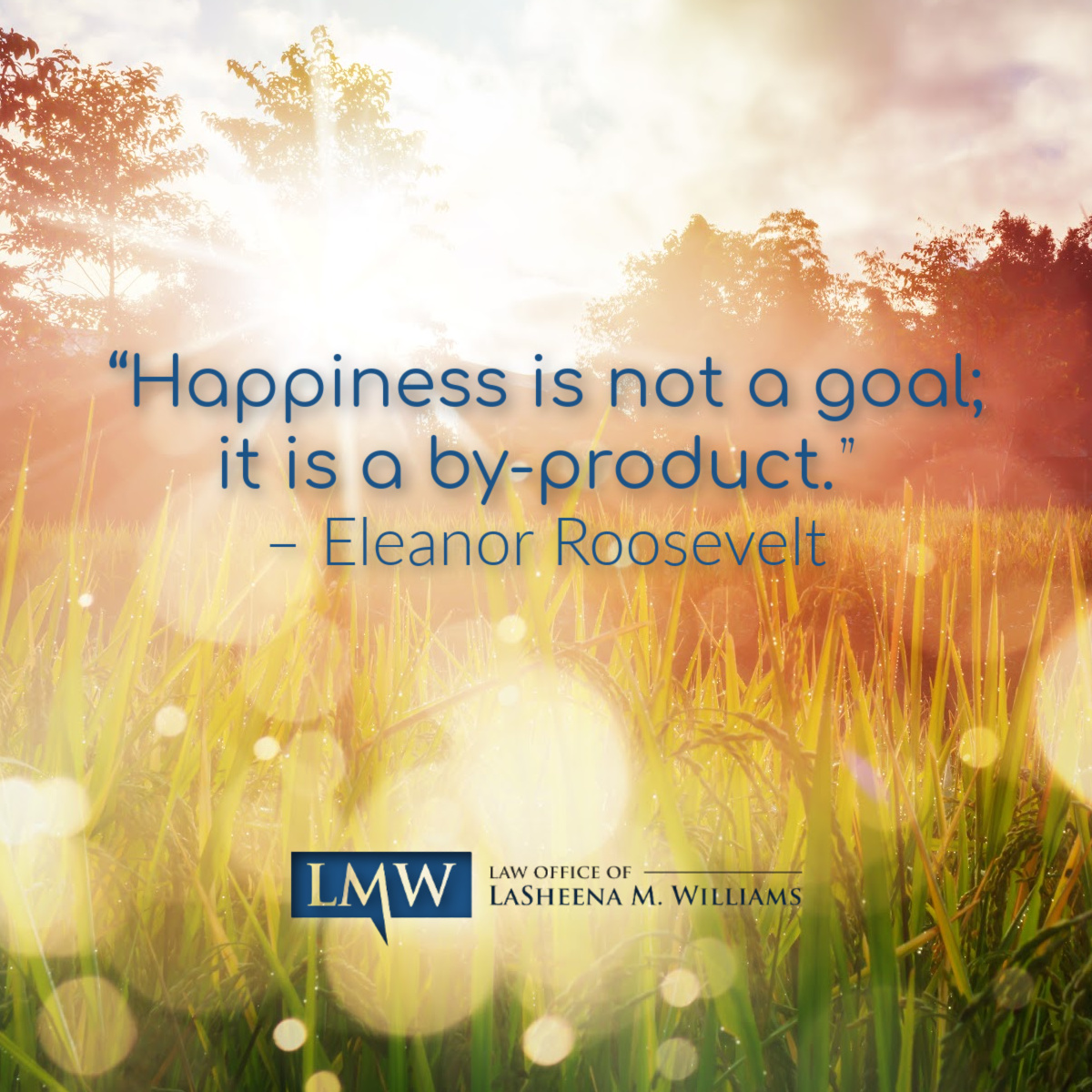 """""""Happiness is not a goal; it is a by-product."""" – Eleanor Roosevelt   #MotivationMonday #QOTD #Quotable #Quoteoftheday #MotivationalMoment ElenaorRooseveltQuote #HappinessQuote"""
