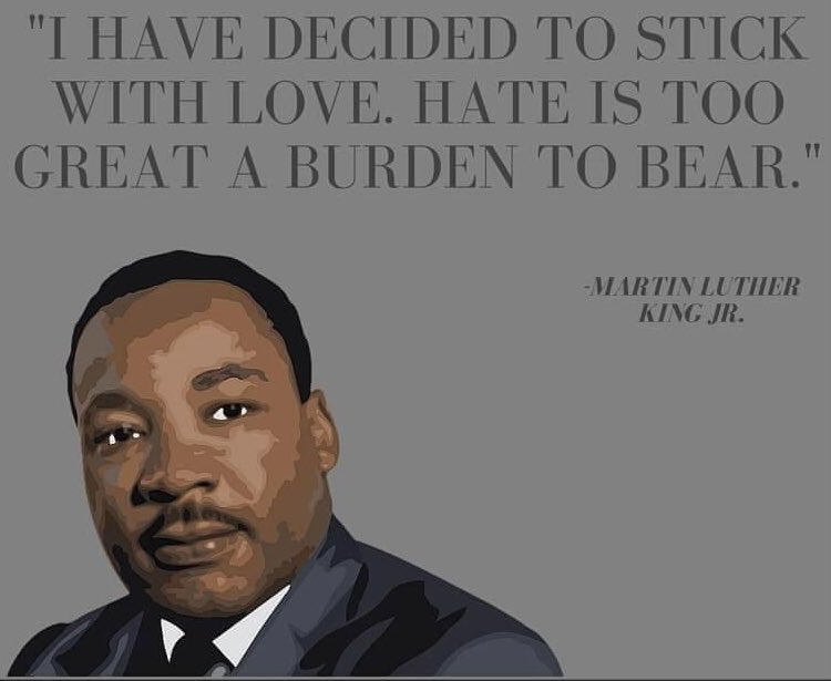 """""""We must Learn to Live together as brothers or Perish together as Fools."""" - MLK #MLKDay #IHaveADream  #NeverToLateToDoWhatsRight #MakingTheUltimateSacrifice  """"In the end, we will remember not the words of our enemies, but the silence of our friends""""!🖤🤍"""