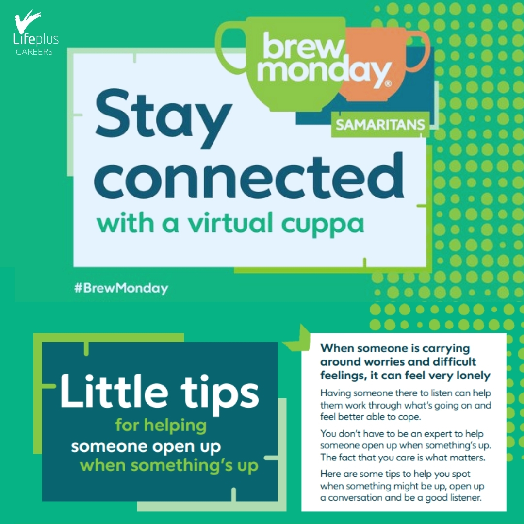 A group of our #MentalHealthFirstAiders have been supporting #BrewMonday with a digital drop in session. Our colleagues were able to have a #cuppa & a #catch up to stay connected. This is just one way that we've #support the #MentalHealth of our #colleagues.  #BlueMonday #MHFA