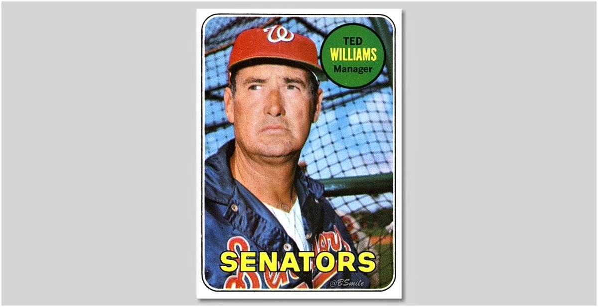 Today In 1969: The last-place Washington Senators name Boston #RedSox legend Ted Williams as their new manager! Teddy Ballgame leads the club to a 86-76 record during his first season in D.C. #MLB #Baseball #History