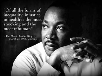 Dr. King's words during the civil rights movt are especially poignant during this #COVID19 pandemic. They serve as a sobering reminder of the continued work that must still be done to ensure that everyone receives compassionate, scientific, ethical, and equitable care.