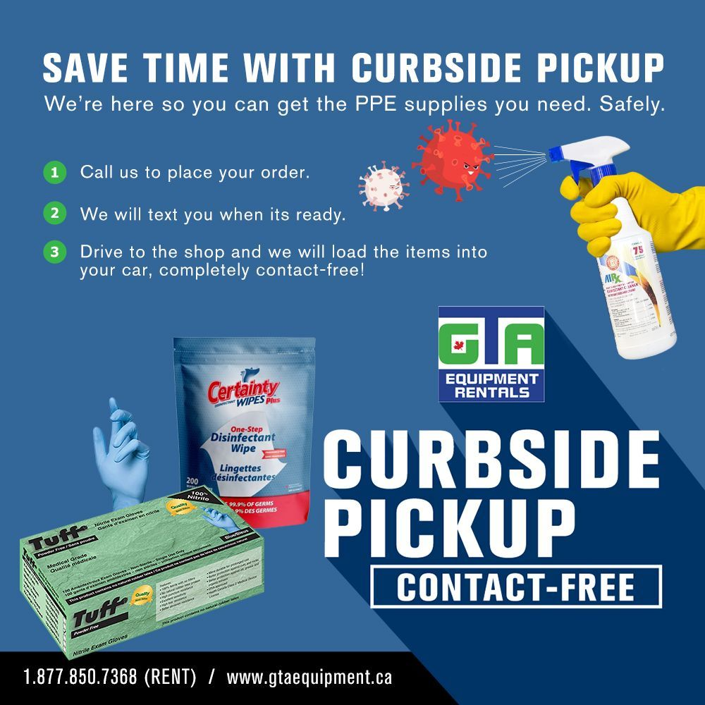 Save time and stay safe with contact-free curbside pickup for your PPE supplies.  #constructionindustry #curbsidepickup #oakvilleontario #oakvillebusiness #milton #Burlington #peelregion #mississauga #ppe #safetyproducts #personalprotectiveequipment #disinfectant