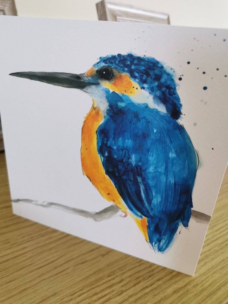 A beautiful card from a lovely friend, to spread a little cheer on #bluemonday2021 How lucky am I to have such fab friends. #friends #Kingfisher @smoulderingink