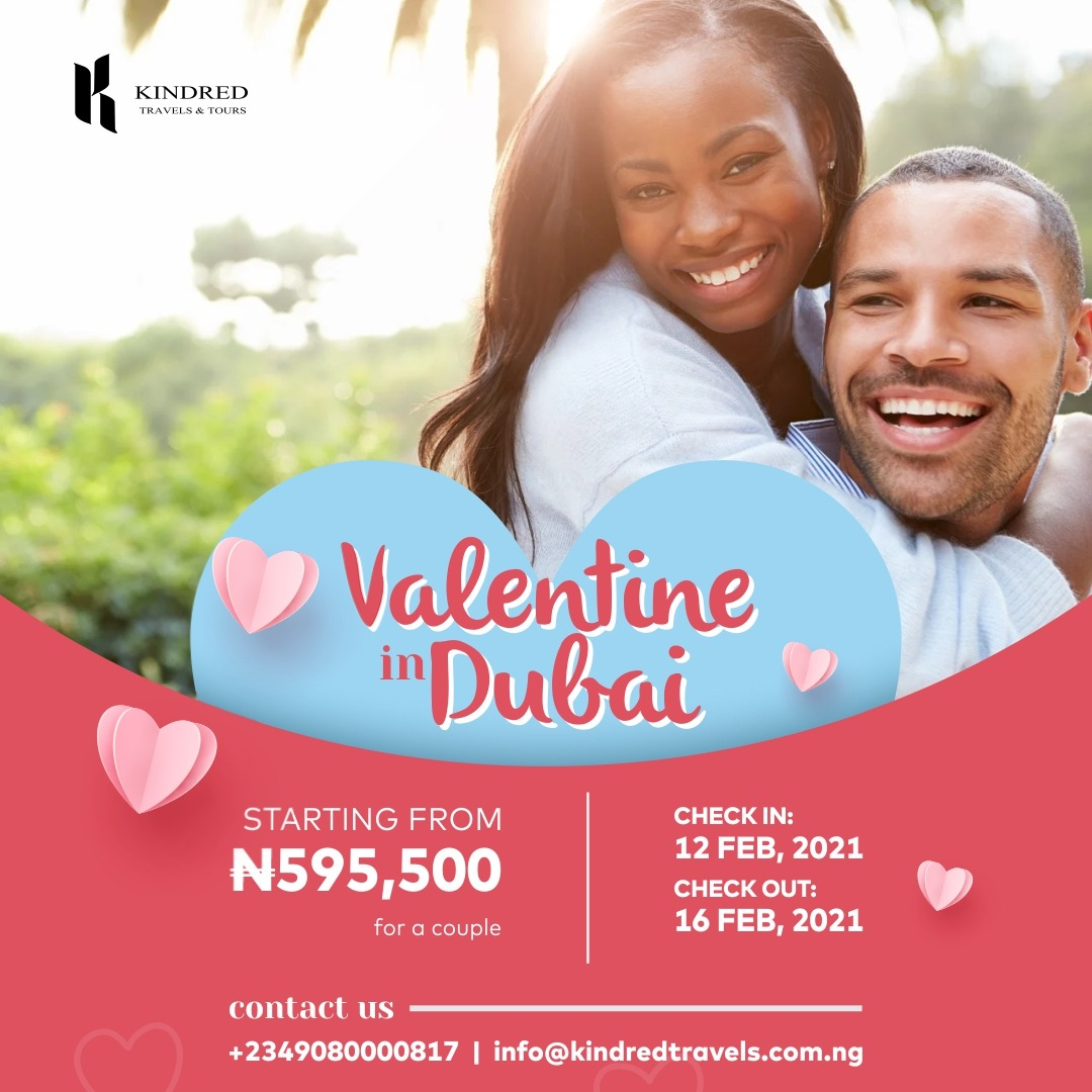 Create love memories that will last for a lifetime in this Valentine season, live in the beautiful city of Dubai. . . .#kindredtravelsandtours  #travelsadtours, #thursday #travelsandtours #life #vacation #funtrips #Nigeria #africa #travelling #airtrips  #journey