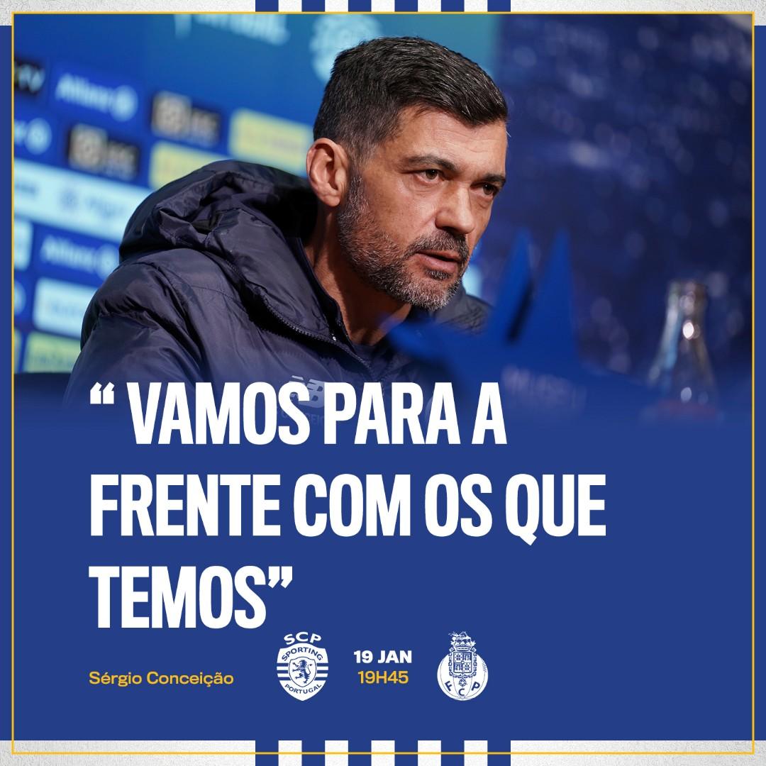 """🎙 Sérgio Conceição: """"Vamos para a frente com os que temos""""  #FCPorto #SCPFCP #TaçadaLiga #AllianzCup"""