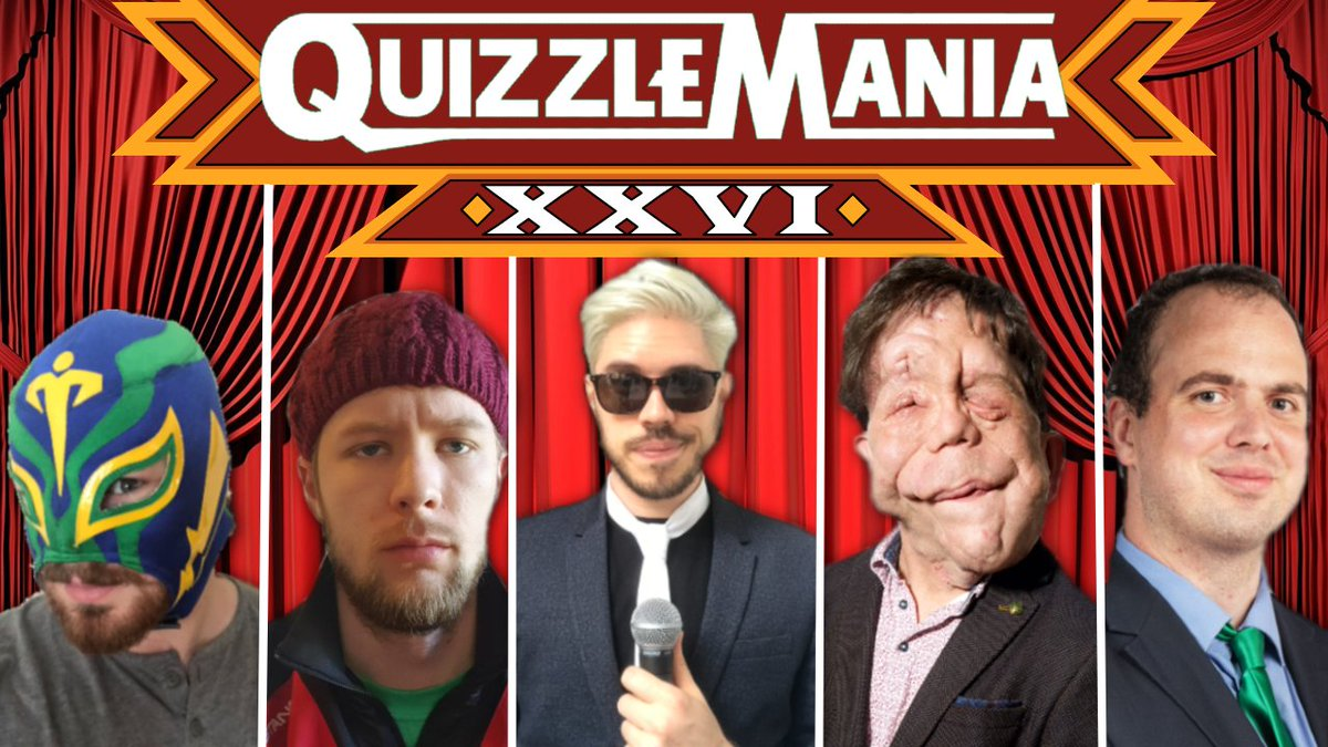 STOP! QUIZZLEMANIA TIME  We're back this Wednesday, with TWO extra special guests! @Adam_Pearson makes his return to the show, alongside one of the leading voices in UK indie wrestling. It's the QM debut of @davebradshaw!  Book your reminder ➡️➡️