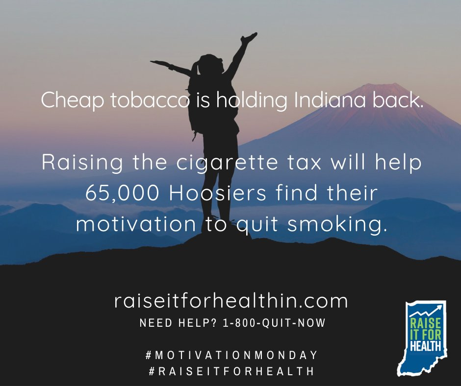 Higher tobacco prices are proven to motivate people to quit.  #RaiseItForHealth #MotivationMonday