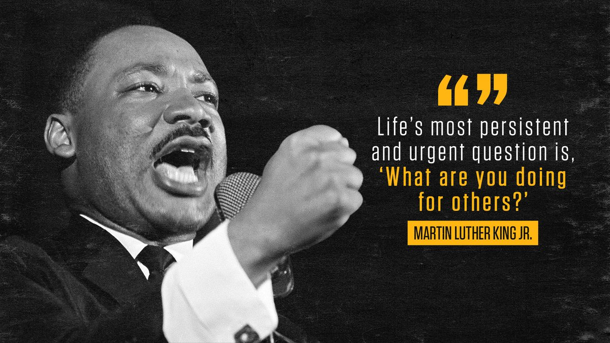 Today, we celebrate the life and legacy of Martin Luther King Jr. as a national day of service, a chance to strengthen our communities and break down barriers. #MLKDay