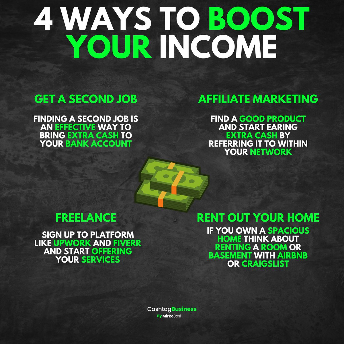 4 WAYS TO BOOST YOUR INCOME See more  #instagram #instagrambusiness #instagramflower #MondayMotivation #mondaythoughts #MondayMorning