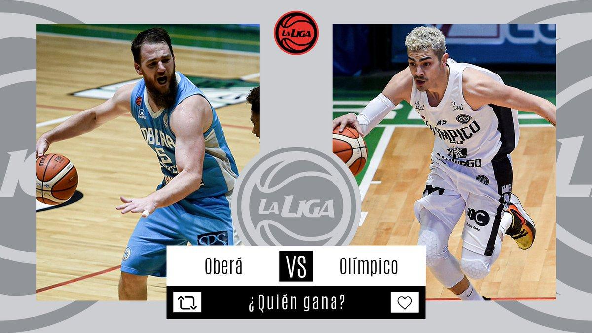 #LigaNacional   ⏰ AHORA              ⛹🏼♂️ @OberaTenisClub vs @OlimpicoLB  📊 Estadísticas  📺 En vivo   ¿Quién ganará?
