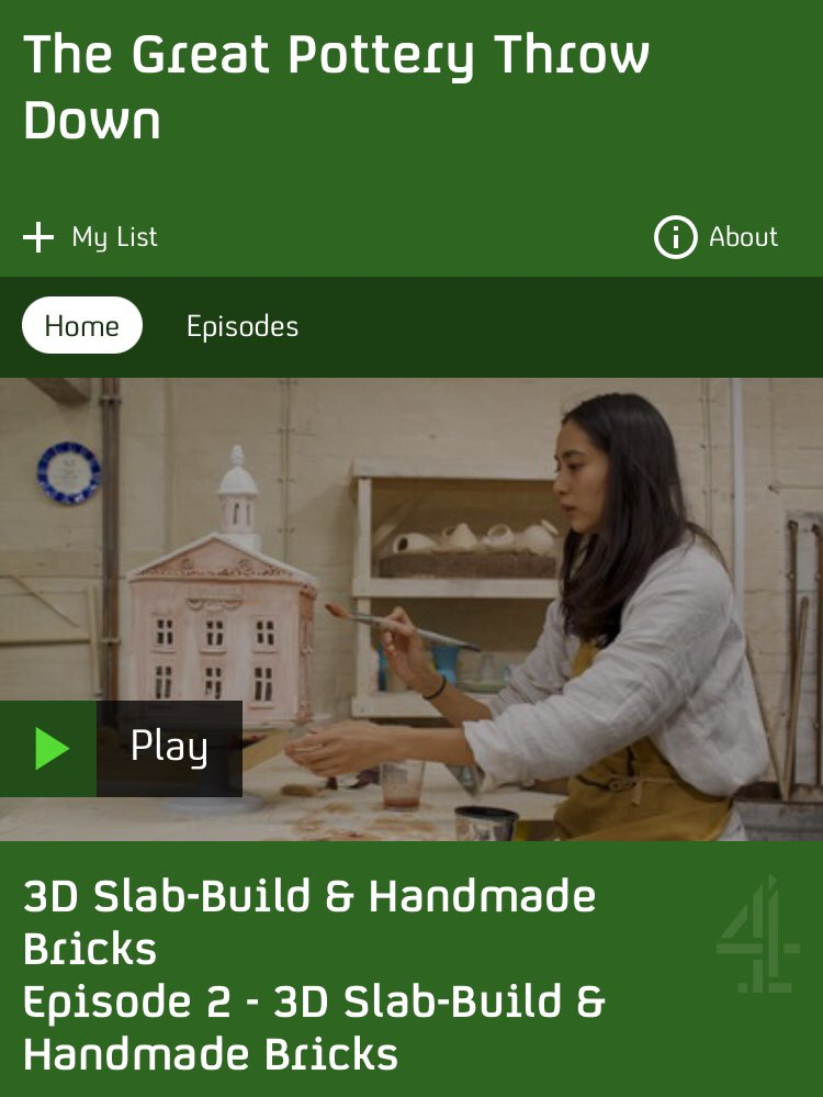 I don't know who needs this morning, but there's a new series of The Great Pottery Throw Down on Channel4. Featuring: 💗Lots of laughs 💗Male judge who cries at beauty 💗Low stakes/angst 💗Gorgeous clay creations   I love it.  I bet a vpn set to UK would allow you to watch it. 👀 https://t.co/wK7M90vEzl