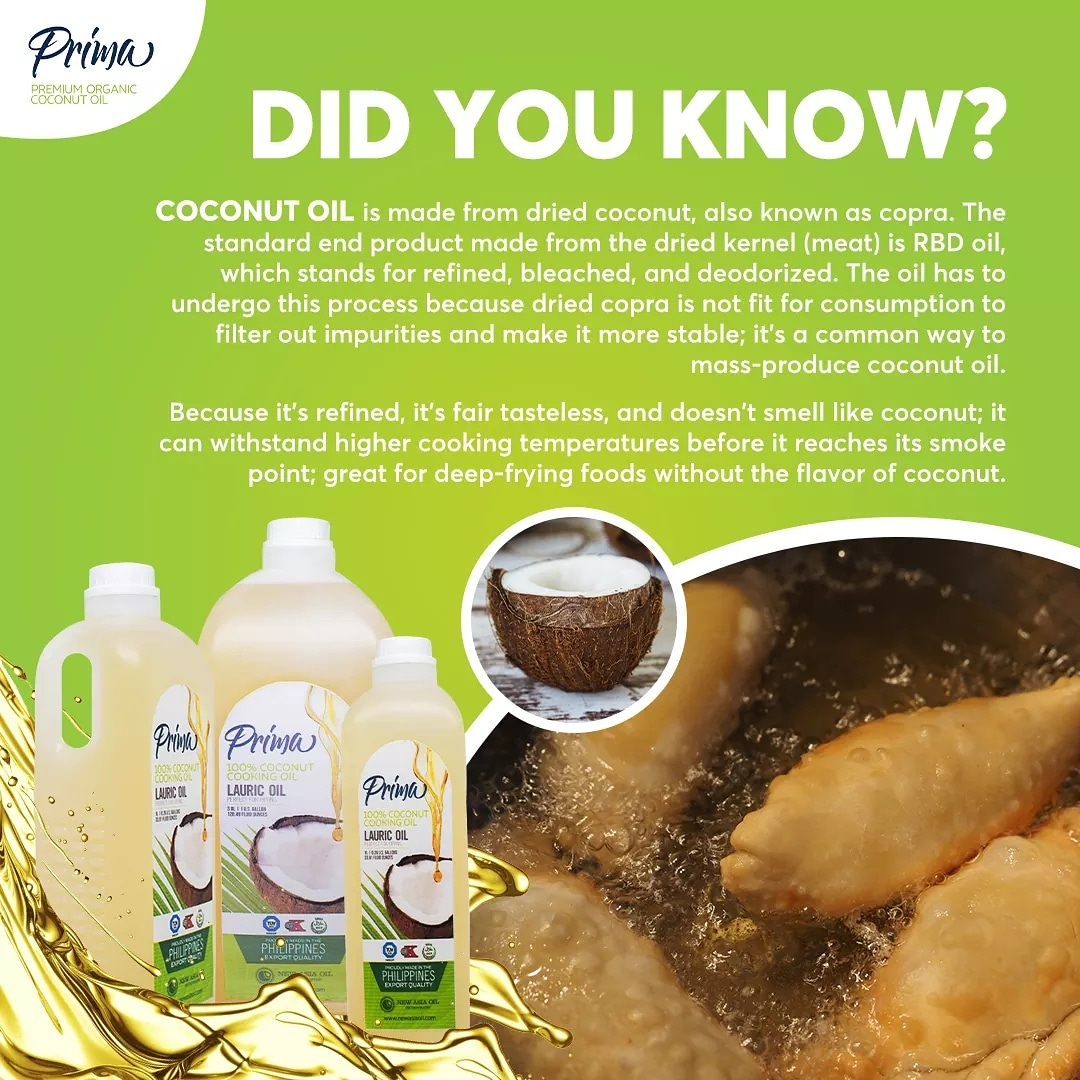 Did You Know that coconut oil is made from dried coconut known as copra.  #primacoconutoil #coconutoil #cookingoil #healthyoil #healthy