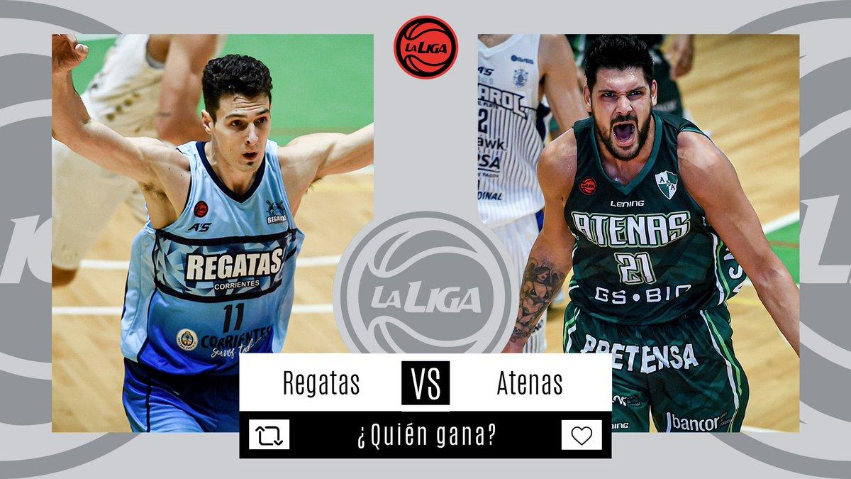 #LigaNacional   ⏰ AHORA              ⛹🏼♂️ @ClubRegatasCtes vs @Atenas_oficial  📊 Estadísticas  📺 En vivo   ¿Quién ganará?