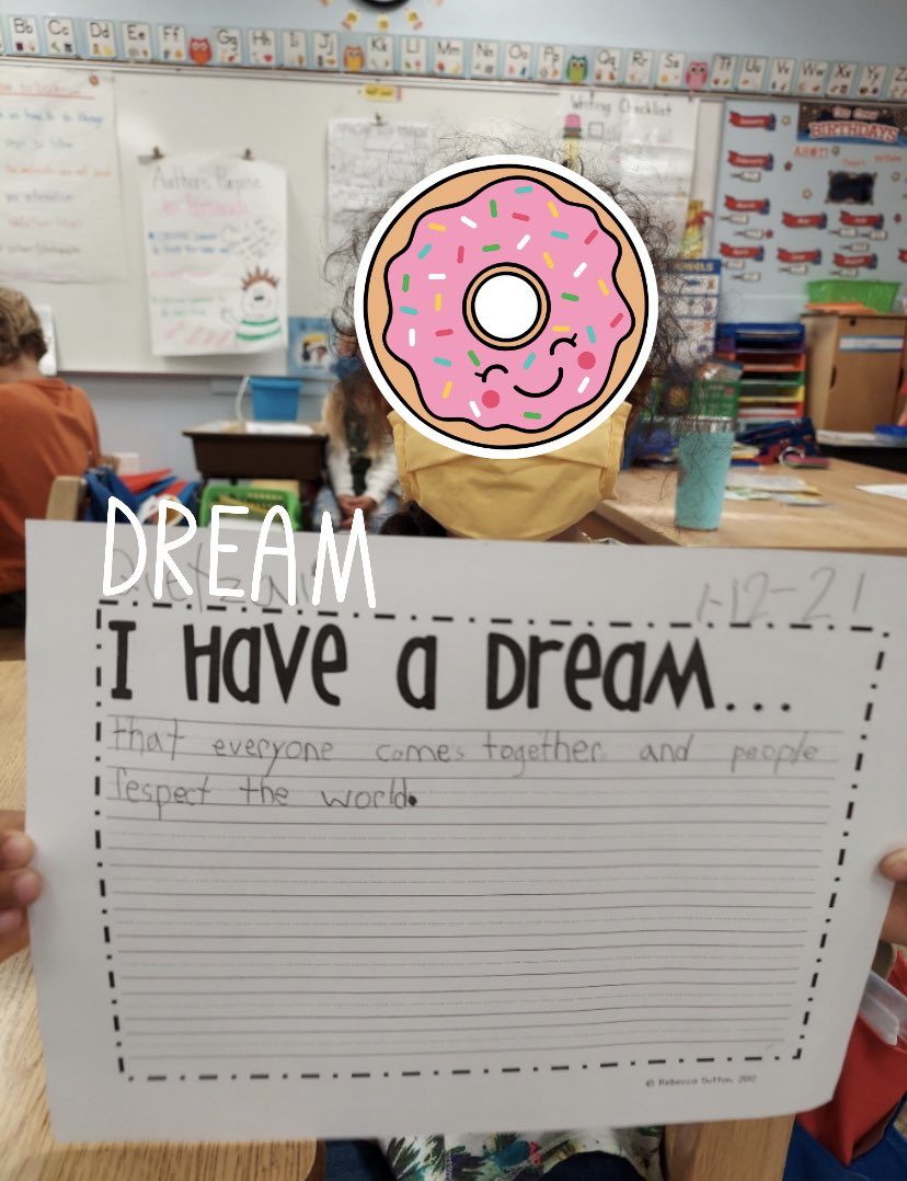 Our future leaders already have it figured out. #ilovemystudents #IHaveADream